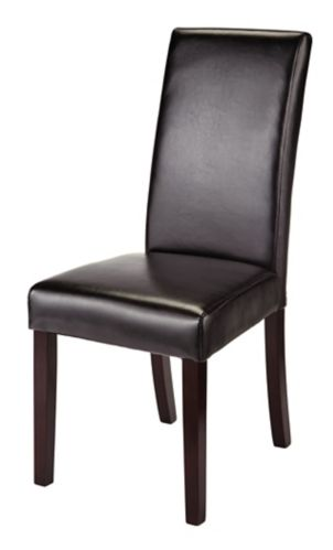 CANVAS Bonded Leather Dining Chair, Espresso Product image