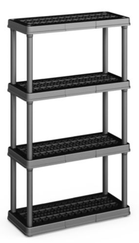 Black 4 Shelf Medium Duty Shelving Unit Product image