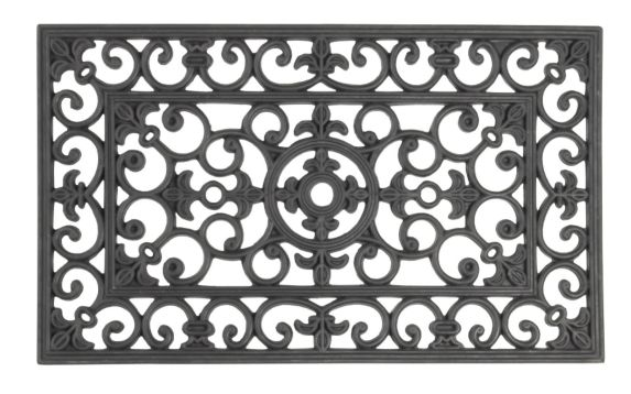 Rubber Wrought Iron Mat, 18 x 30-inch Product image