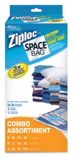 Ziploc Vacuum Seal Space Bags Pack, Flat Product image