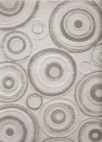 Circle Area Rug, Grey