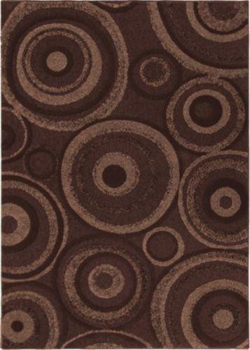 Tapis à motifs de cercles, chocolat Image de l'article