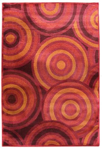 Tapis à motifs de cercles, rouge Image de l'article