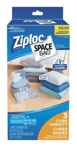 Ziploc Vacuum Seal Space Bags Pack, Cube
