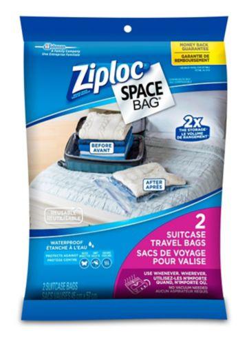 Sacs de voyage Ziploc Space Bag, paq. 2