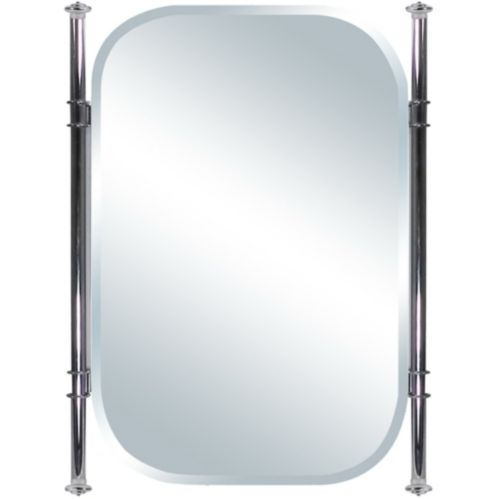 Deluxe Oval Mirror with Metal Frame, 18 x 24-in