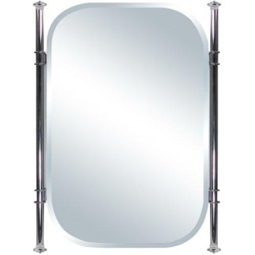 Miroir ovale de luxe avec cadre métallique, 18 x 24 po