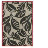 Carpette en jute à imprimé de feuilles rouge/brun, 20 x 30 p