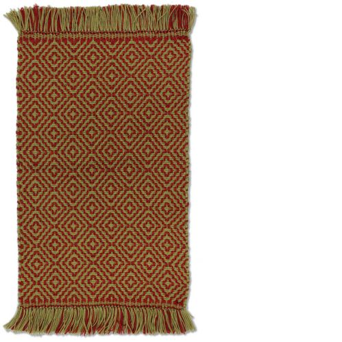 Maison Taupe/Red Pet Rug, 20 x 30-in