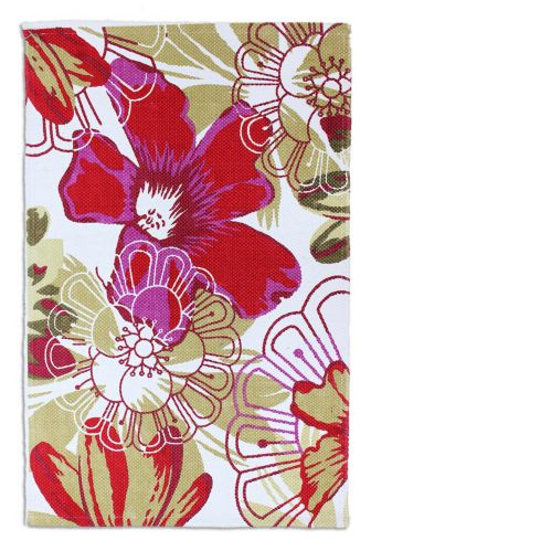 Red Daisy Flower Cotton Printed Rug, 20 x 30-in Product image