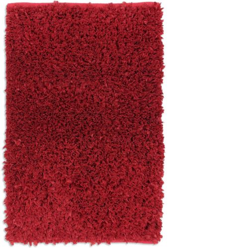 Red Poly Shag Rug, 20 x 30-in