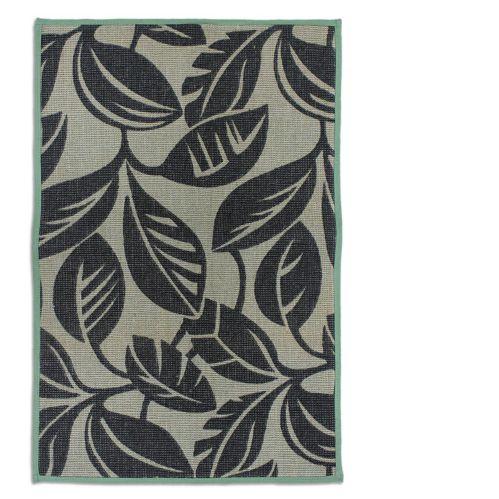 Carpette en jute à imprimé de feuilles vert/brun, 20 x 30 po Image de l'article
