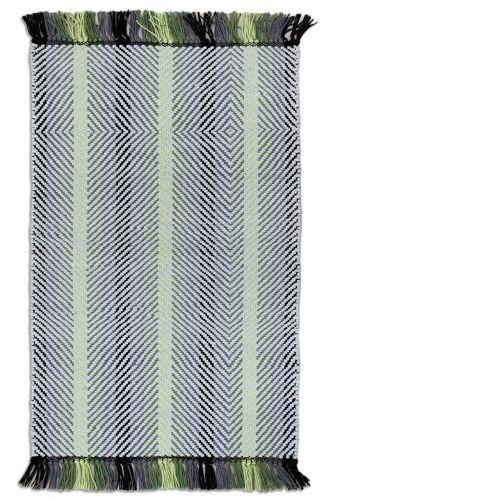 Carpette en coton texturée Valley, grise/noire, 20 x 30 po Image de l'article