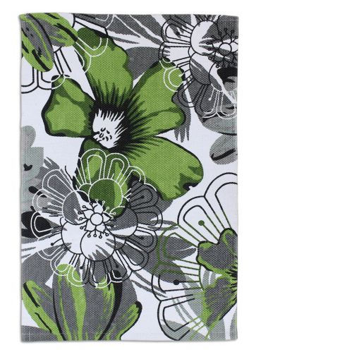 Green Daisy Flower Cotton Printed Rug, 20 x 30-in Product image