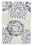 Carpette imprimée en coton, étoiles, verte, 20 x 30 po
