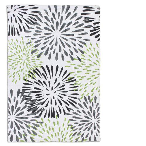 Carpette imprimée en coton, étoiles, verte, 20 x 30 po Image de l'article