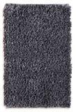 Carpette à poils longs en polyester, gris foncé, 20 x 30 po