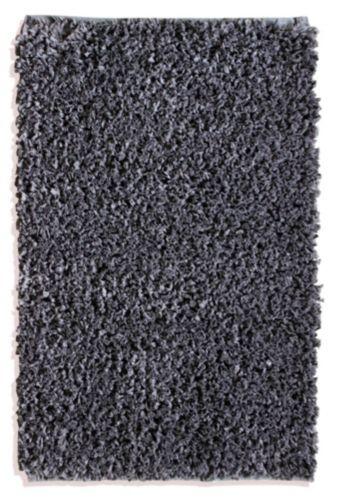 Carpette à poils longs en polyester, gris foncé, 20 x 30 po Image de l'article