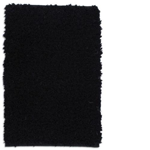 Carpette à poils longs en polyester, noire, 20 x 30 po Image de l'article