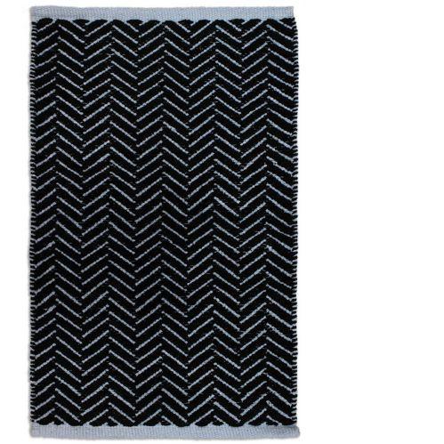 Azure Dark Grey Cotton Chenille Rug, 20 x 30-in
