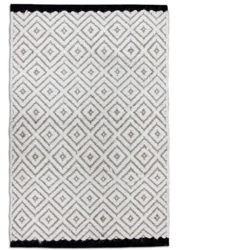 Black Creek Diamond Wool/Jute Rug, 20 x 30-in