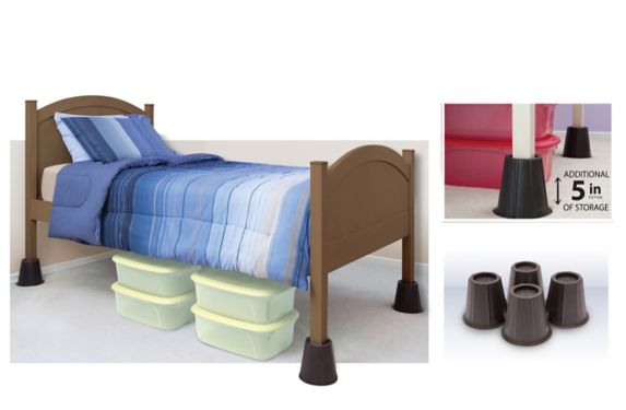 Round Bed Risers, 5.5-in, 4-pk Product image