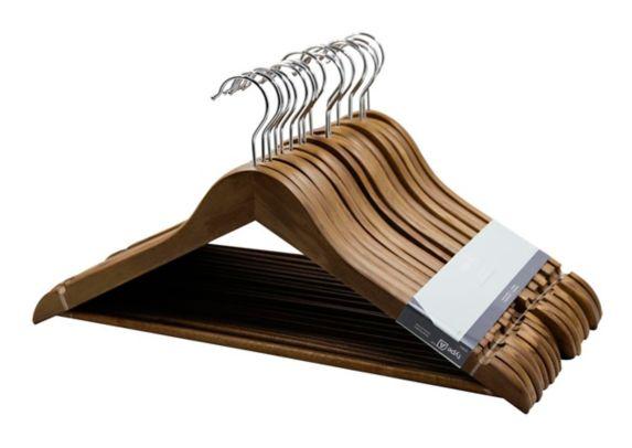 type A Walnut Wood Hanger, 18-pk Product image