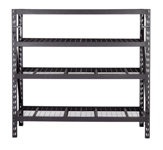 MAXIMUM 4-Tier Heavy-Duty Storage Rack, 24 x 77 x 72-in