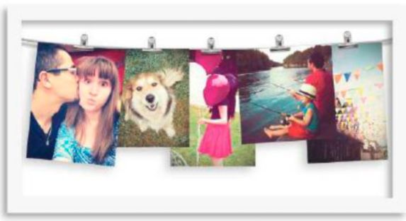 CANVAS Clip 5-Photo Display, White Product image