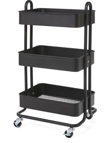 type A Momentum 3-Tier Utility Cart, Black Product image