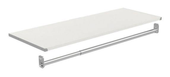 ClosetMaid Shelf Rod Kit, White Product image