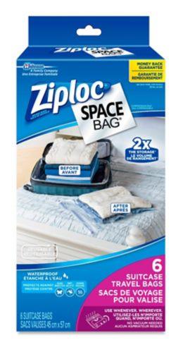 Sacs de voyage Ziploc Space, paq. 6 Image de l'article