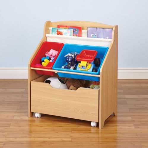 Kids Two Bin Storage Unit with Drawer Product image