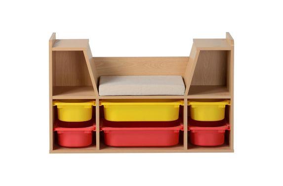 Kids Six Bin Storage Bench Product image