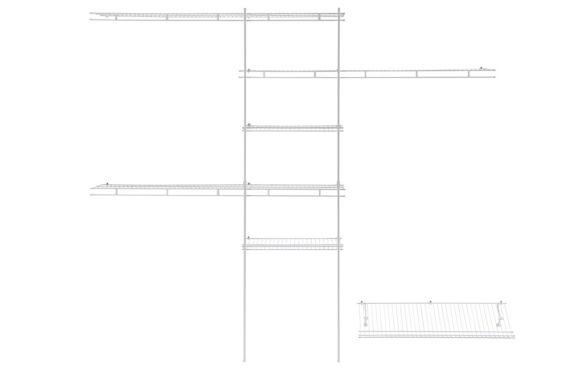 Deluxe Shelf and Rod Closet Organizer Kit, 5-ft-8-ft Product image