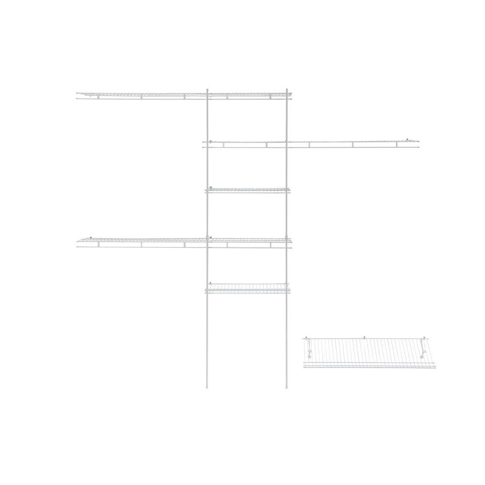 ClosetMaid Deluxe Shelf and Rod Closet Organizer Kit, 5-ft-8-ft