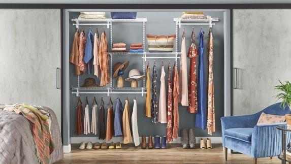 ClosetMaid Shelf Track Closet Kit, White, 5 x 8-ft Product image