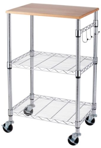 For Living Chrome Kitchen Cart