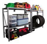 MAXIMUM 4-Tier Industrial Storage Rack, 40 x 14 x 75-in | MAXIMUMnull