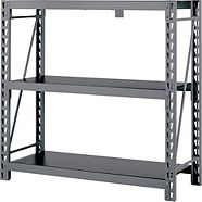 MAXIMUM 3-Tier Heavy-Duty Storage Rack, 49.6 x 18 x 47.2-in