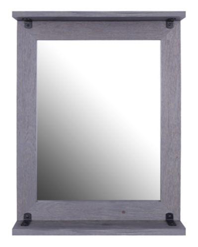 Miroir en bois avec tablette Canvas Odell, gris Image de l'article