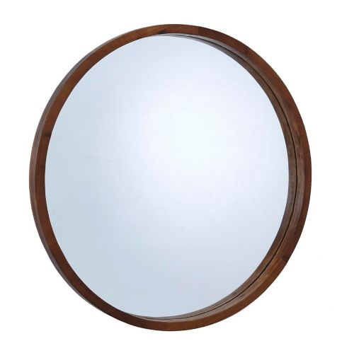 CANVAS Mina Round Wood Mirror, 30-in Product image