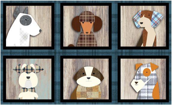 Tapis retraité, portraits d'animaux, 18 x 30 po