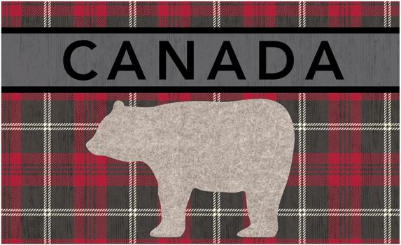 Reground Floor Mat, Canada Polar Bear, 18 x 30-in Product image