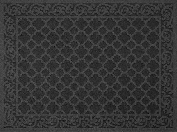 Andor Embossed Floor Mat, Grey