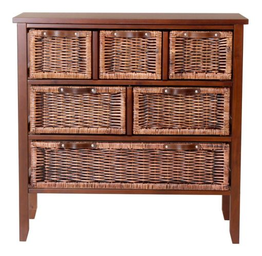 For Living Large Wicker Chest, Dark