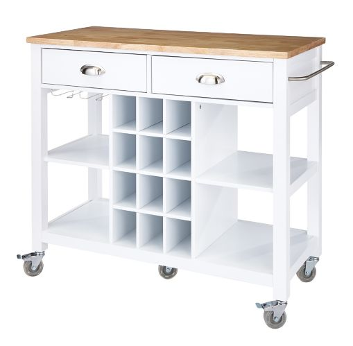For Living Kitchen Cart with Wine Storage Product image