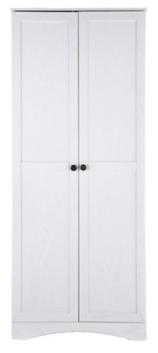System Build 2-Door Wardrobe with Drawers, White Product image