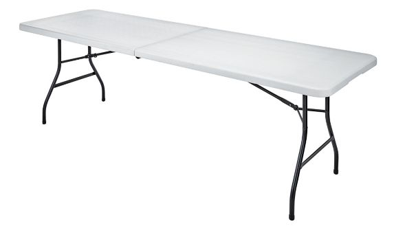 For Living Folding Table, White, 8-ft Product image