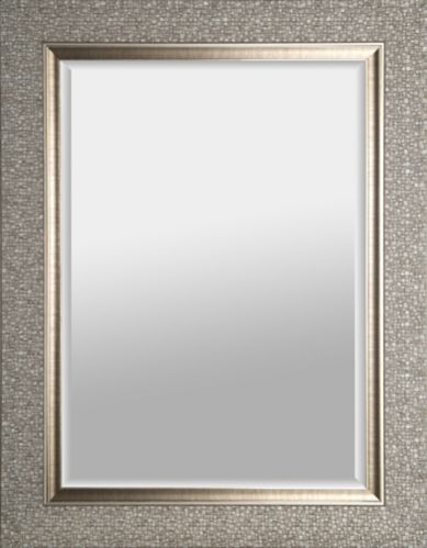 Mosaic Tiled Bevel Wall Mirror, 27 x 35-in Product image